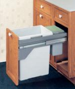 soft close pull out single trash bin