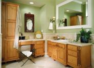 light wood bath vanity